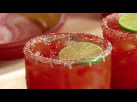 Trago de Sangrita y Tequila